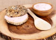 Strawberry Cream Cheese Bagel & Spread