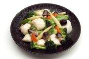 Sautéed Scallops w/Chinese Greens